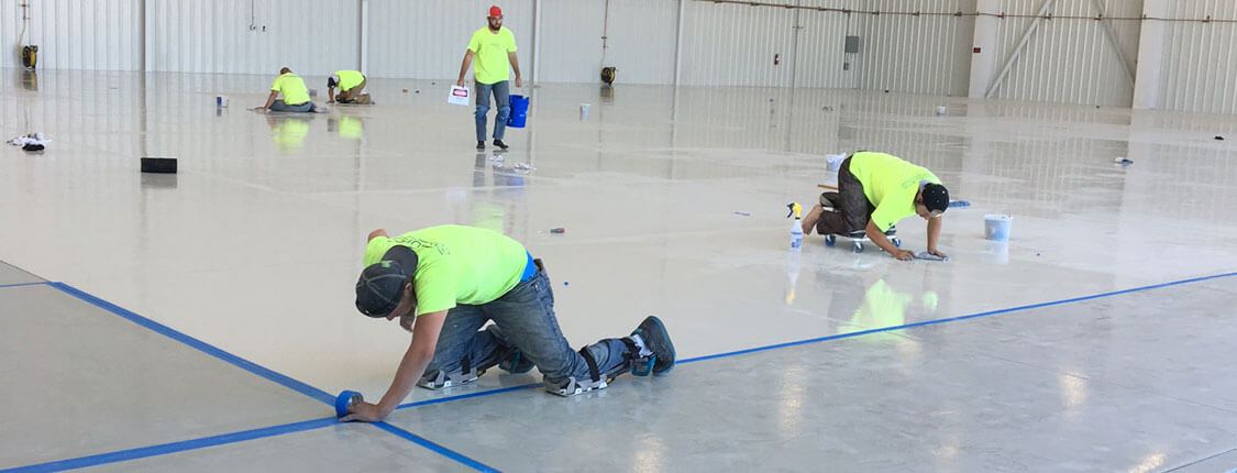 Jet Hangar Coatings Prep 3